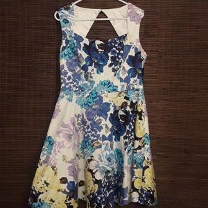 NY & Company Blue Floral Dress